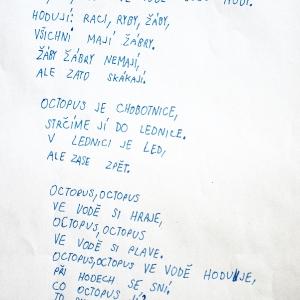 Šimon napsal báseň o vodě.