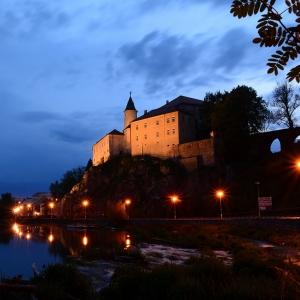 Ledečský hrad večer.