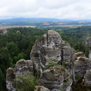 Výhled z Hrubé skály.