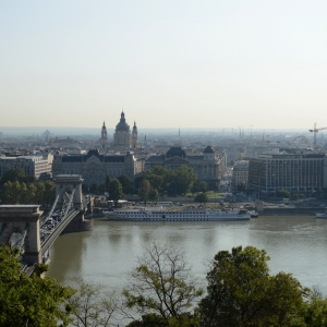 Budapešť z výšky.