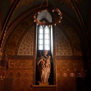 Pana Marie v Matyýšově chrámu.