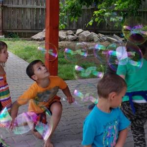 Bublinová párty.
