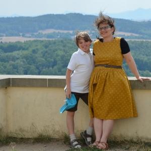 Šimon s maminkou.