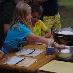 Příprava suši.