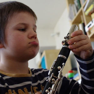 Matěj a klarinet.